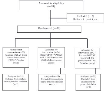 Pethidine efficacy in achieving the ultrasound-guided oblique subcostal transversus abdominis plane block in laparoscopic cholecystectomy: A prospective study