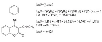The 4-arylaminocoumarin derivatives log P values calculated according to Rekker's method